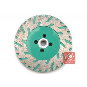 Алмазный универсальный зачистной диск с фланцем для резки и зачистки гранита FY 125мм