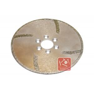 Алмазный диск для резки мрамора 125мм под фланец
