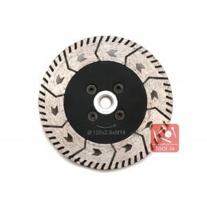 Алмазный универсальный зачистной диск с фланцем для резки и зачистки гранита 125мм