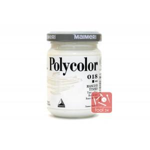 Акриловая краска Maimeri Polycolor белила титановые для портретов и пейзажей