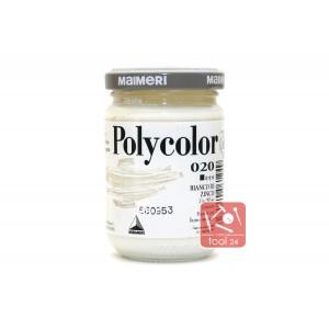 Акриловая краска Maimeri Polycolor белила цинковые для портретов и пейзажей