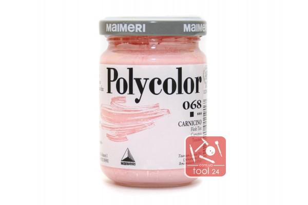Акриловая краска Polycolor Maimeri 140мл. телесный 068 для создания цветных портретов и пейзажей на камне габбро, граните, мраморе, пластике, стекле, металле, бумаге и древесине