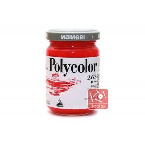 Акриловая краска Maimeri Polycolor красного цвета для портретов и пейзажей