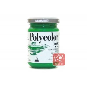 Акриловая краска Maimeri Polycolor зеленого цвета для портретов и пейзажей