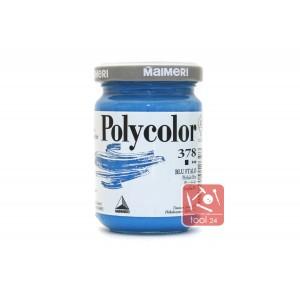 Акриловая краска Maimeri Polycolor голубого цвета для портретов и пейзажей