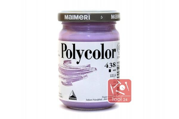Акриловая краска Polycolor Maimeri 140мл. лиловая 438 для создания цветных портретов и пейзажей на камне габбро, граните, мраморе, пластике, стекле, металле, бумаге и древесине
