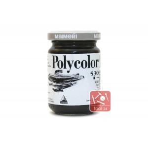 Акриловая краска Maimeri Polycolor черного цвета для портретов и пейзажей