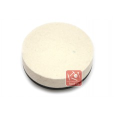 Войлок, фетр белый тонкошерстный жесткий  100*20*м14 для полировки камня, гранита, мрамора, металла