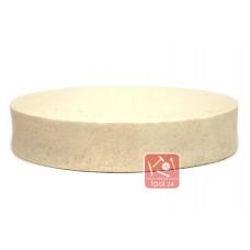 Войлок, фетр белый тонкошерстный жесткий  200*40мм для полировки камня, гранита, мрамора, металла на прижимных станках